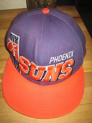 brand new 3b4ed 70c45 Phoenix Suns Mens Vintage Old School Hat Cap Purple Orange Snapback  Basketball