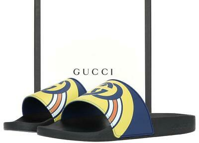 740efb234 New Gucci Men s Logo Gg Rubber Slides Sandals Flip Flops Shoes 11 G us 11.5