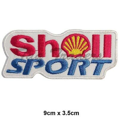 SHELL SPORT Racing Sponsor Iron-On Embroidered Patch