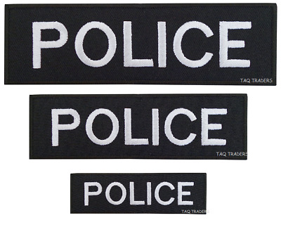 Police Embroidered Iron On Patch / Sew On Badge for Fancy Dress Costume