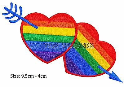 star rainbow colour iron sew on patch LGBT gay pride  badge  #138