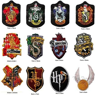 harry potter iron on patch Gryffindor slytherin hufflepuff ravenclaw house badge