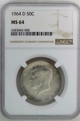 1964 D Kennedy Half Dollar NGC MS64 - Nice Coin *DoubleJCoins* 2007-97