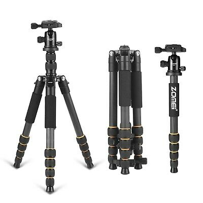 Zomei Q666C Portable CarbonFibre Tripod Monopod stativ,Ball Head For DSLR Camera
