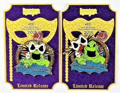 Disney Mickey Not So Scary Halloween Party 2016 Passholder Oogie Boogie 3-D Pin