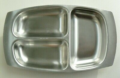 A Vintage Robert Welch Designed Old Hall Stainless Steel Divided Serving Dish