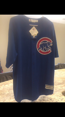 166340acc46 NEW Anthony Rizzo Chicago Cubs Majestic Cool Base Jersey Blue  44 Mens Size  XL