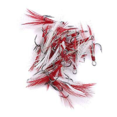 20PCS Fishing Lure Tackle Rigs Bait Jig Line String Barbed Hook Accessories LIN