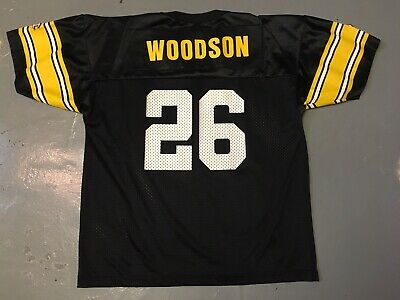 6dc596af7 Champion NFL Pittsburgh Steelers ROD WOODSON 26 Vintage Jersey Youth XL  Womens L