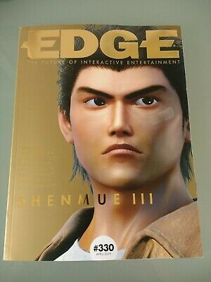 SHENMUE 3 SUBSCRIBER EDITION of EDGE magazine 330 Gold Cover Limited Edition