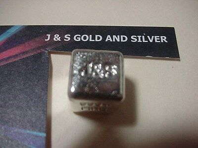 1 Ounce Silver Ingot Looks Like A Dice Cube .999 Fine  1 Troy Ounce 6 Sided  J&s