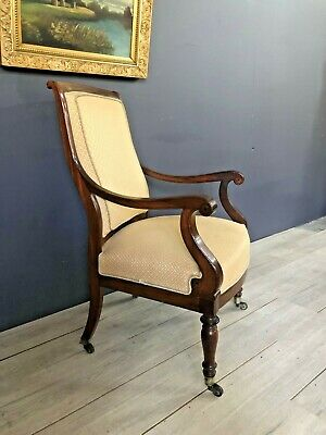 French Antique Armchair Desk Chair