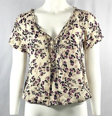 1deb8551e5447 Urban Outfitters Pins and Needles Women s Floral Semi Sheer Top Size Medium  NEW