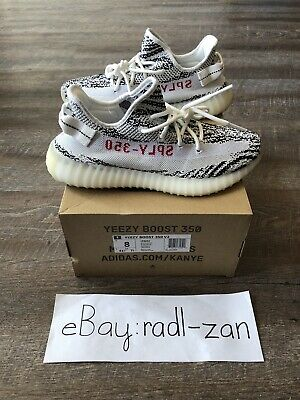 fa6fef50aca Adidas Yeezy Boost 350 V2 Zebra Mens Size 8 New with Box Red Kanye Read  Descrip