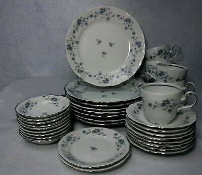 JOHANN HAVILAND china BLUE GARLAND Traditions 41-piece Set Service for 8 w/ Soup