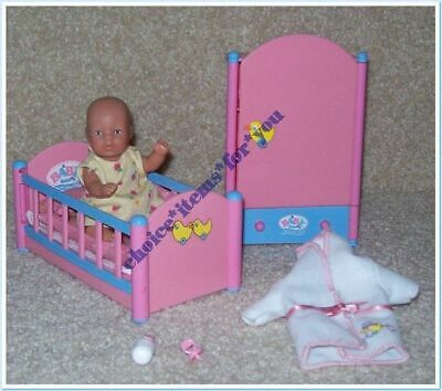 Baby Born Miniworld Zapf Creations Fair Skin Mini Doll Night Time Set