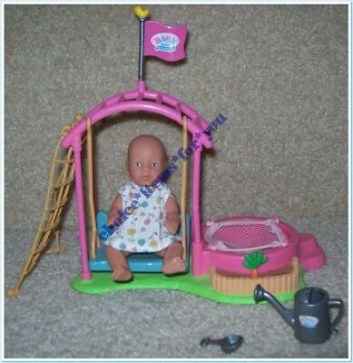 Baby Born Miniworld Zapf Creations Fair Skin Mini Doll Outdoor Playset *Rare*