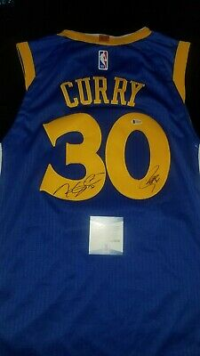 139ee199b Kevin Durant Stephen Curry DUAL SIGNED Jersey WARRIORS Autographed NBA BAS  COA
