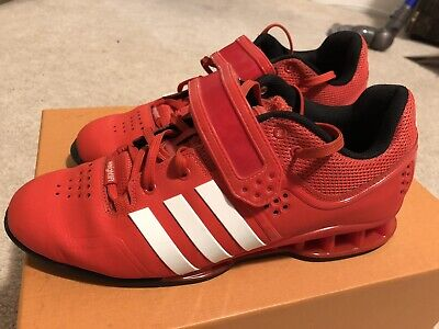 red adidas powerlifting shoes cheap online