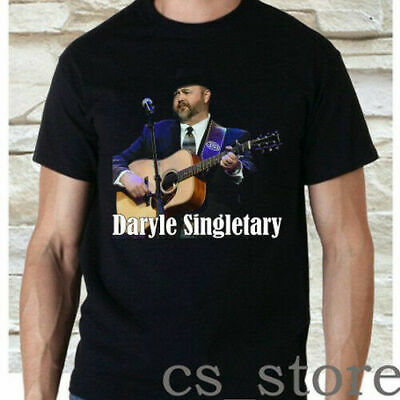2019Daryle Singletary Country Musician Black TShirt Size S2XL