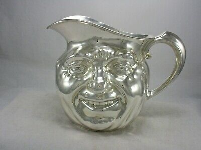 Rare! Reed & Barton Silver Plate SUNNY JIM Double Face Water Pitcher 5640 4 pt.