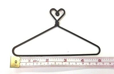 "6X  Small Wire Coat Hangers  5"" x  2-5/8"" High (Heart on Top))"