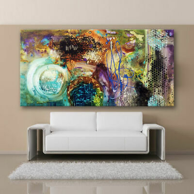 MODERN ABSTRACT LARGE WALL ART OIL PAINTING ON CANVAS (no Framed)