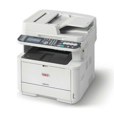 Oki Mb472dnw Mono A4 Multifuntion Printer, 33Ppm, Print, Scan, Copy, Fax With