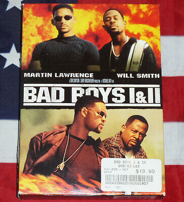Bad Boys/ Bad Boys II DVD 2-Pack (DVD, Box Set) Martin Lawrence, Will Smith