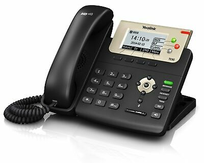 New  Yealink Sip-T23g Ip Phone Black Wired Handset Lcd SIP-T23G