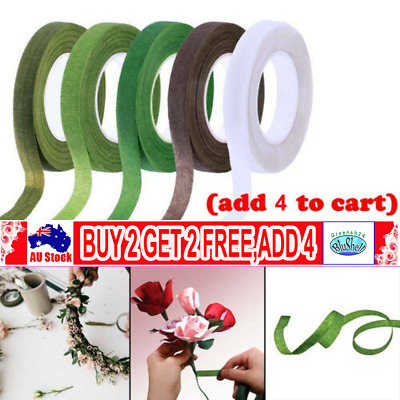 12mmx27M Paper Florist Floral Tape Wedding Bouquet Stem Wrap Supplies Elastic G