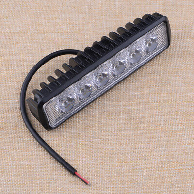 18W/800LM Bright Light Spot 6LED Waterproof Work Bar Driving Fog Offroad Lamp