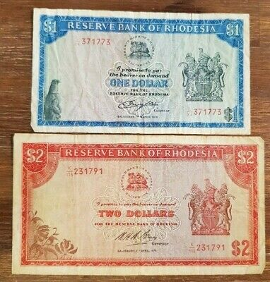RHODESIA - 2x Different Paper Bank Notes