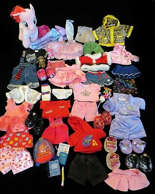Huge Lot x54 BUILD A BEAR, MY LITTLE PONY, Clothes, Shoes, Accessories for BAB