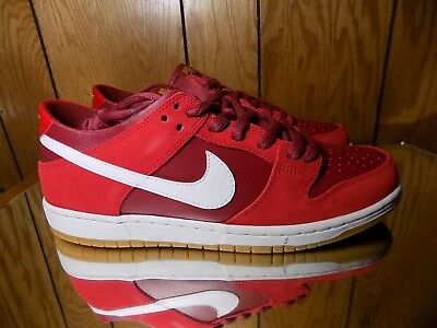 new style d0571 e88a0 Nike SB ZOOM DUNK LOW PRO Track Red White Cedar 854866-616 (678)