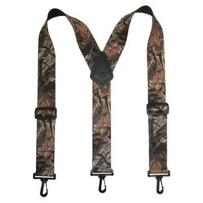 New CTM Men's Big & Tall Elastic Camouflage Suspenders with Black Swivel Clips