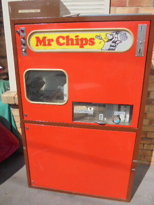 Mr Chips Hot Chip Vending Machine = Collectable , mancave , business ,