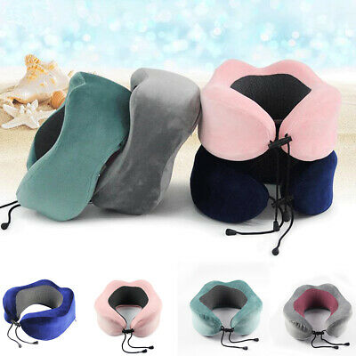 Premium Memory Foam U Shaped Travel Pillow Air Bus Car Seat Head Neck Sleep Soft