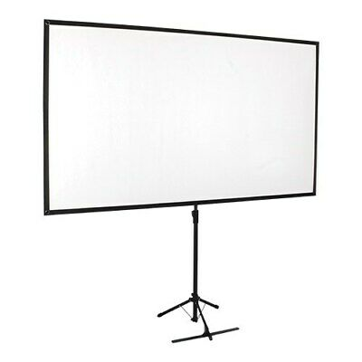 New  Brateck Economy 80' Tripod Projector Screen Black 16:9 PKDA80