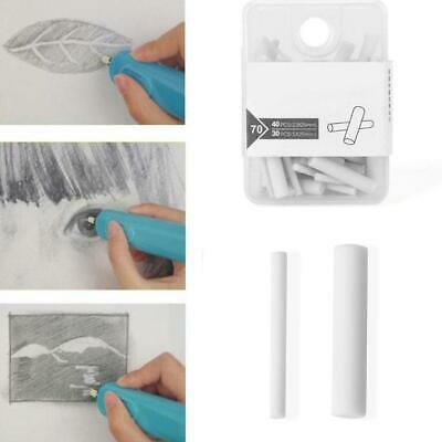 Electric Pencil Eraser Kits Highlights Sketch Drawing With 70Pcs Rubber Refills