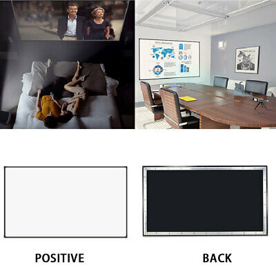 4313 Portable Projection Screen Projector Curtain Squares 16:9 PVC 100 Inch