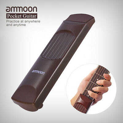Pocket Acoustic Guitar Practice Tool Portable Gadget Chord Trainer Fret Board