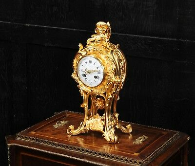 Superb Rococo Ormolu Bronze Antique French Clock Emile Colin Paris C1870 F/worki