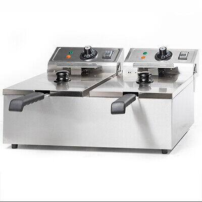 """Brand New"" Twin Basket Commercial Deep Fryer Countertop Electric 20L Ef-102T"
