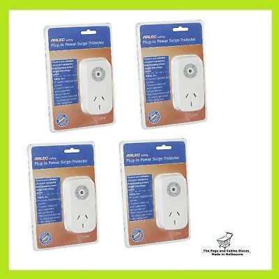 Arlec 240v Plug In Power Surge Protector - 4 Pack