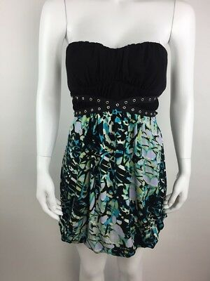 0c6fb6754 La Belle Junior Womens Dress Strapless Stretch Bustier Mini Short Black  Medium M