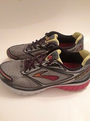 d52a3c258d2ee Brooks Ghost 7 Mens Running Shoes Size 10.5 D Gray Red Yellow 1101681D959