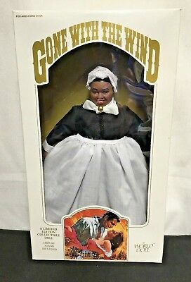 "Gone With The Wind Limited Edition Doll ""Mammy"" 1989 By World Doll - New In Box"