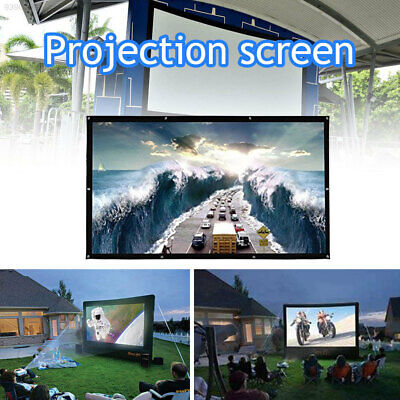 FCF6 Durable Projection Screen Projector Screen Churches HD Foldable 120 Inches