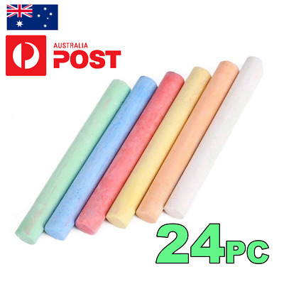 ***24 x LOW DUST COLOR CHALK STICKS*** CHALK BOARD, OFFICE, SCHOOL FREE SHIPPING